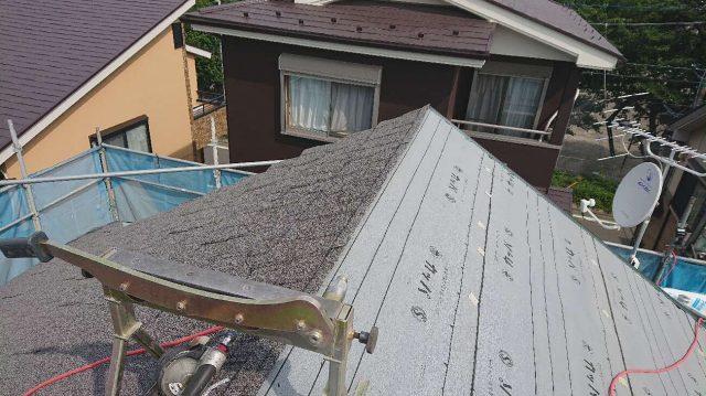 所沢市 東所沢 屋根カバー、外壁塗装工事 防水ルーフィングシート施工1 (10)