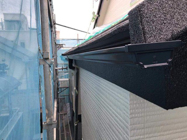 所沢市東所沢 屋根カバー、外壁塗装工事 付帯部塗装 破風、霧除け、雨樋塗装工事 (5)