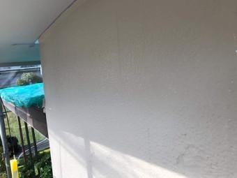 所沢市北中 屋根葺き替え、外壁塗装工事 外壁上塗り後乾燥