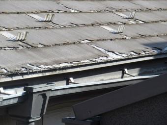 東京都 東村山市 屋根・外壁リフォーム 現地調査 スレート屋根のひび割れ確認3