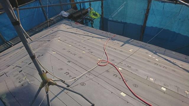 狭山市笹井 屋根カバー、葺き替え工事 外壁塗装 防水ルーフィングシート