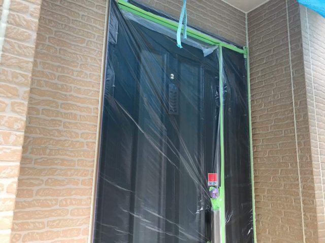 所沢市東所沢 屋根カバー、外壁塗装工事 塗装前養生作業 (3)