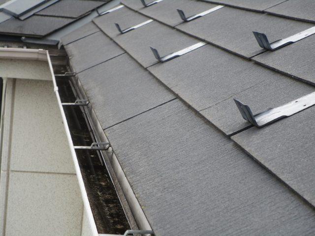 所沢市 北秋津 屋根リフォーム 外壁塗装工事 現場調査 雨樋の汚れ