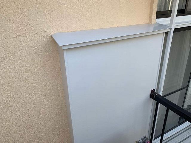東京都東大和市 屋根葺き替え、外壁塗装工事 付帯部塗装 戸袋