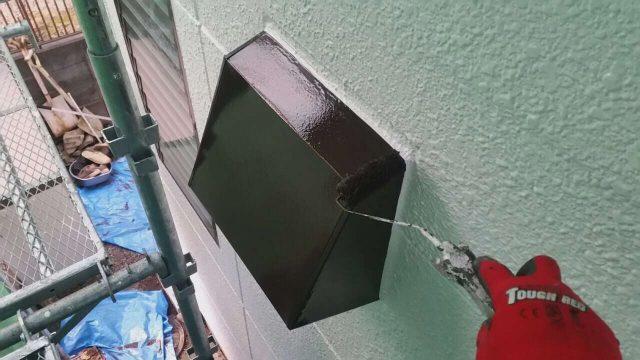 所沢市山口 外壁塗装 換気扇フード