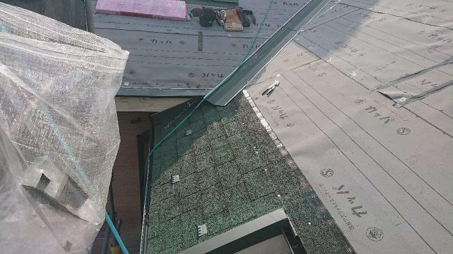変換 ~ 入間市 屋根カバー 外壁塗装工事 屋根カバー防水紙、オークリッジ施工 (5)