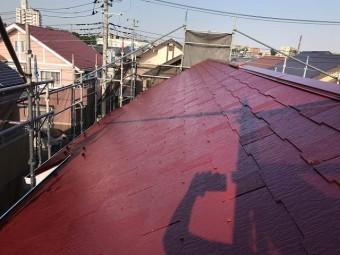 狭山市広瀬 屋根・外壁多彩模様塗装 屋根塗装完成後