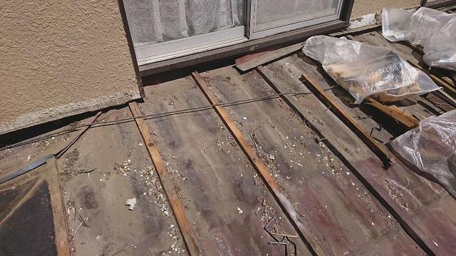 かわらU屋根 撤去作業 葺き替え工事
