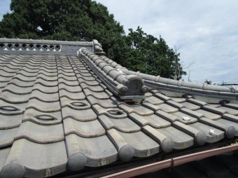 和型瓦屋根葺き替え 施工前