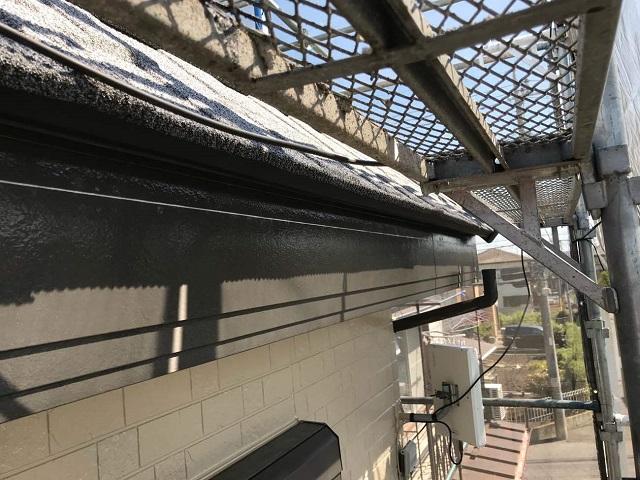 所沢市和ケ原 屋根カバー、天窓撤去、外壁塗装工事 雨樋交換1