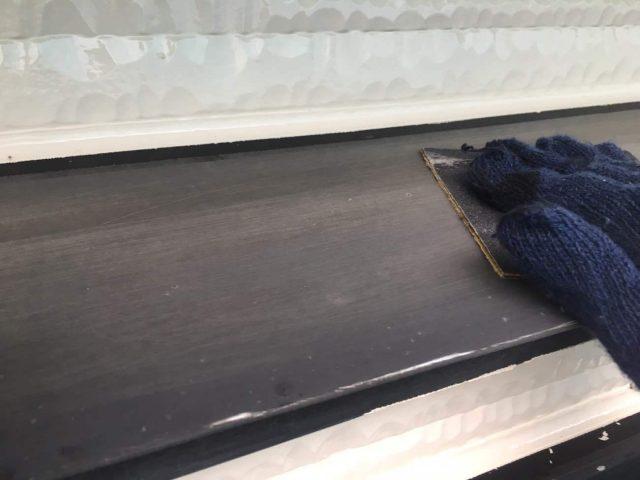 所沢市東所沢 屋根カバー、外壁塗装工事 付帯部塗装 破風、霧除け、雨樋塗装工事 (8)