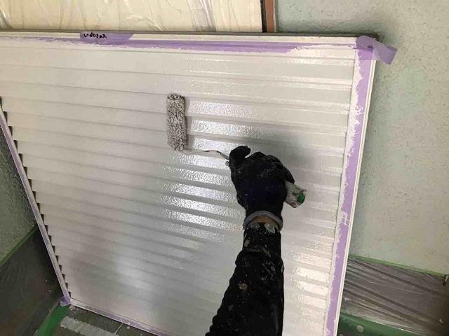 所沢市 北所沢 屋根葺き替え、外壁塗装 付帯部塗装 雨戸塗装作業