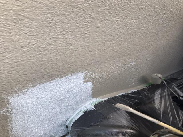 所沢市上新井 棟取り直し 丸棟取付 壁との取り合い 塗装 下塗り