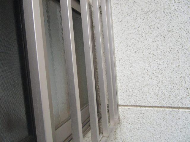 所沢市 北秋津 屋根カバー、外壁塗装 現地調査 面格子