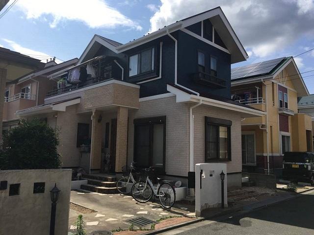 狭山市広瀬 屋根・外壁塗装 ベランダ防水 施工後