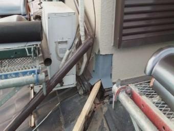 所沢市上新井 棟取り直し 丸棟取付 壁との取り合い