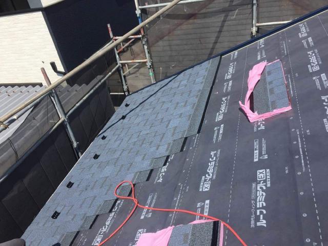 高耐久ファイバーグラスマットを使用した屋根に葺き替え 所沢市