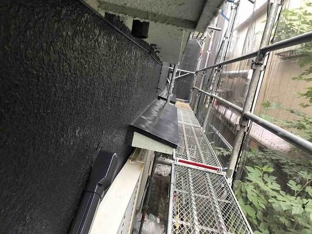 所沢市 北所沢 屋根葺き替え、外壁塗装 付帯部塗装 庇塗装後