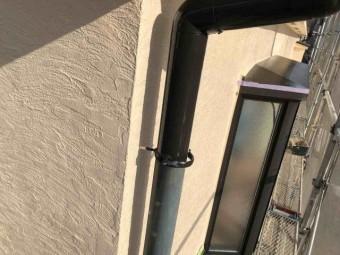 所沢市 東所沢 付帯部塗装 雨樋塗装作業 (4)