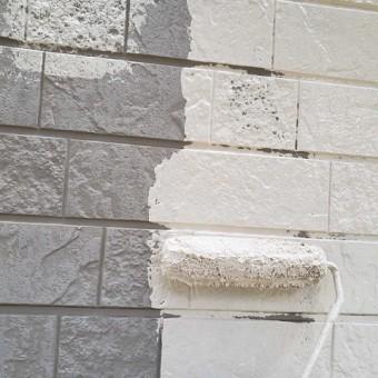 所沢市和ケ原 屋根カバー、天窓撤去、外壁塗装工事 外壁塗装 下塗り