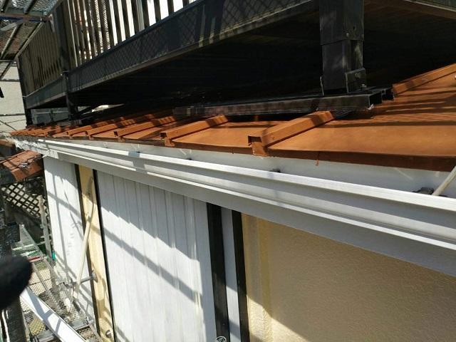 東京都東大和市 屋根葺き替え、外壁塗装工事 雨樋・波板交換2
