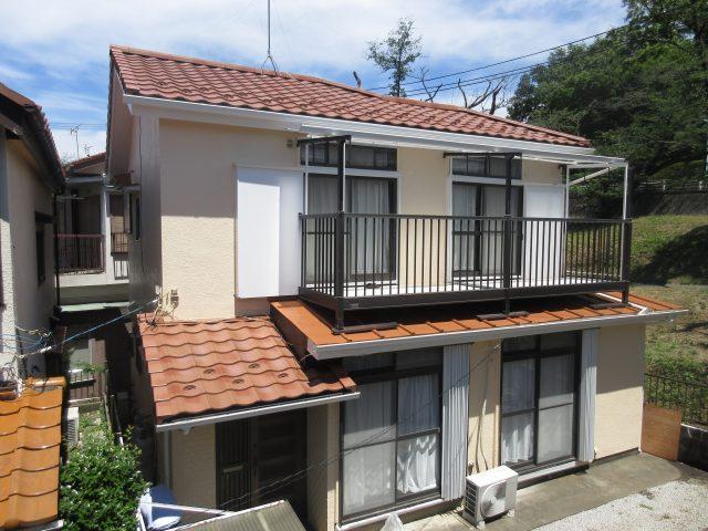 東京都東大和市 屋根葺き替え、外壁塗装工事 施工後