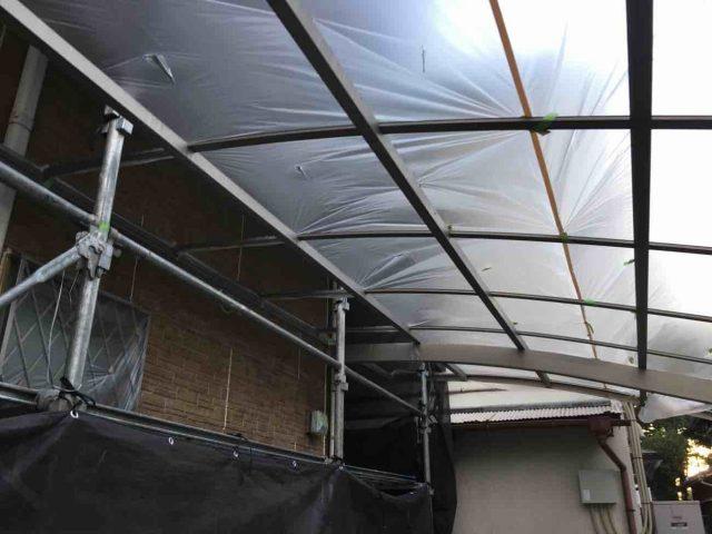 入間市 外壁塗装 養生作業 (6)