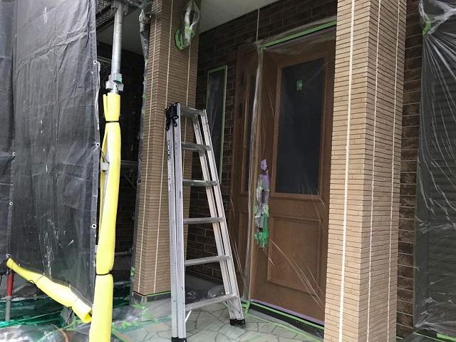 狭山市広瀬 屋根・外壁塗装 コーキング打ち替え作業4