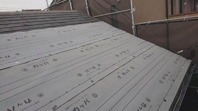 変換 ~ 入間市 屋根カバー 外壁塗装工事 屋根カバー防水紙、オークリッジ施工 (2)