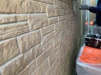 入間市 外壁塗装 下塗り (3)