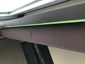 所沢市若狭 屋根葺き替え・カバー工事 付帯部塗装 破風ケレン作業1