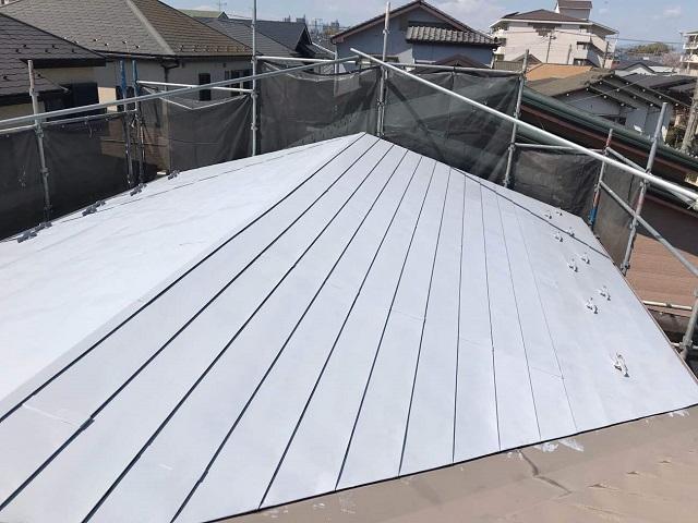 所沢市 松郷 屋根塗装 下塗り2