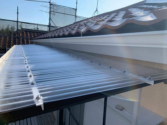 東京都東大和市 屋根葺き替え、外壁塗装工事 雨樋・波板交換6
