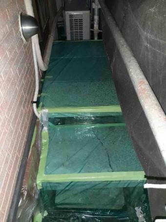 変換 ~ 入間市 屋根カバー 外壁塗装工事 養生作業 (1)