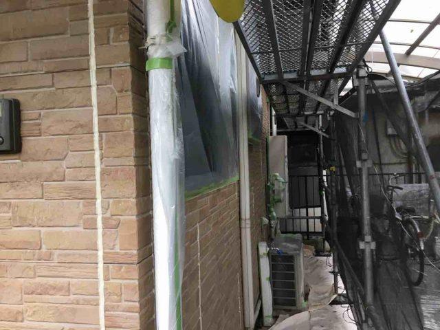 入間市 外壁塗装 養生作業 (1)