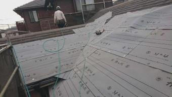 変換 ~ 入間市 屋根カバー 外壁塗装工事 屋根カバー防水紙、オークリッジ施工 (3)
