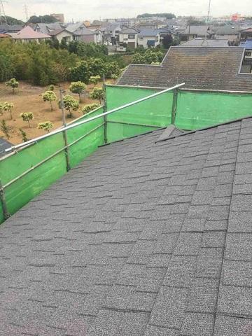 東京都東村山市 屋根カバー工事(セネター)、外壁塗装工事 屋根材施工2