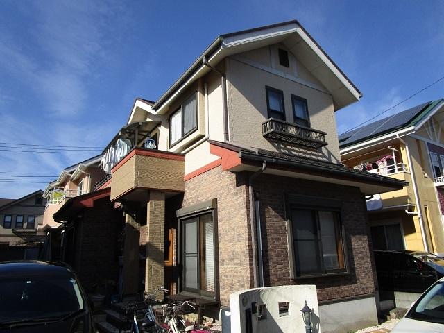 狭山市広瀬 屋根・外壁塗装 ベランダ防水 施工前