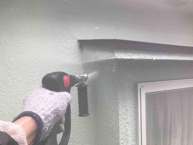 所沢市 北所沢 外壁塗装前 洗浄作業