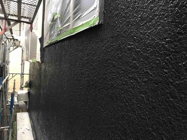 所沢市 北所沢 フッ素樹脂塗料による外壁塗装 上塗り