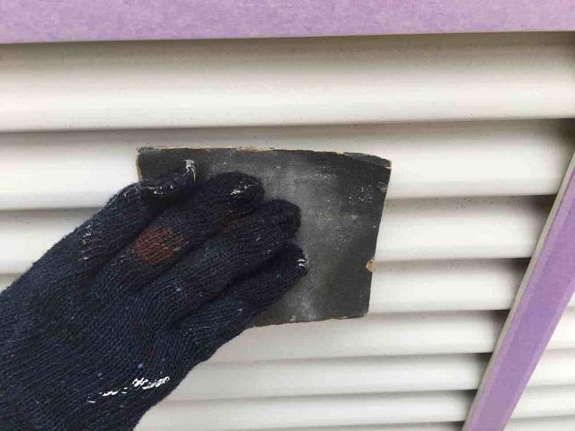 所沢市 北所沢 屋根葺き替え、外壁塗装 付帯部塗装 雨戸ケレン作業