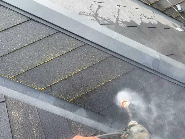所沢市 北秋津 屋根カバー、外壁塗装工事 高圧洗浄作業 (2)