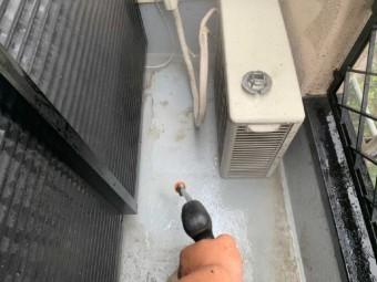 狭山市広瀬台 屋根・外壁塗装 高圧洗浄作業 (1)