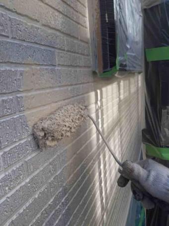 変換 ~ 入間市 屋根カバー 外壁塗装工事 ガイソーウォールタフネスシリコンⅡ施工 (7)
