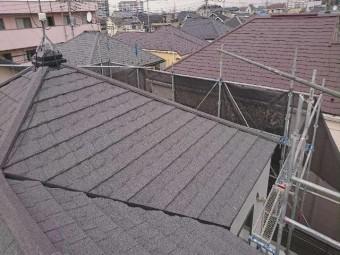 所沢市屋根カバー セネター施工後