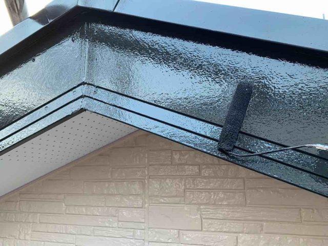 入間市で経年劣化により雨漏りしやすい破風、軒天の付帯部塗装