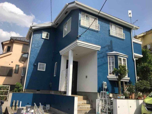 所沢市 小手指元町 屋根カバー 外壁塗装 付帯部 塗装仕上げ (7)