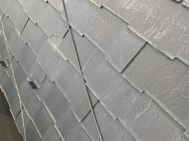 セネター 屋根カバー工法 施工前 ヒビ割れ
