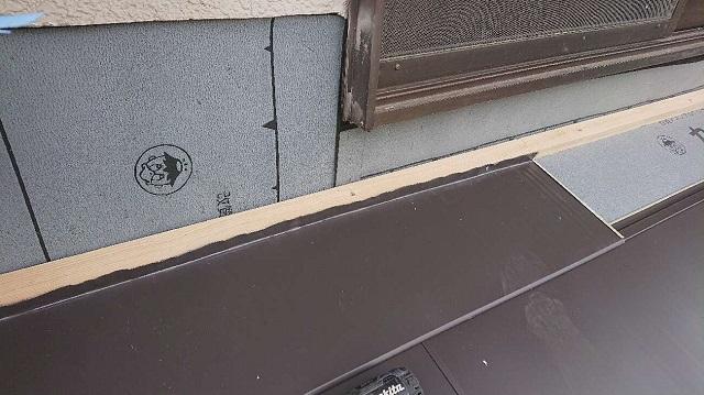 所沢市若狭 屋根葺き替え・カバー工事 下屋根 スーパーガルベスト施工2