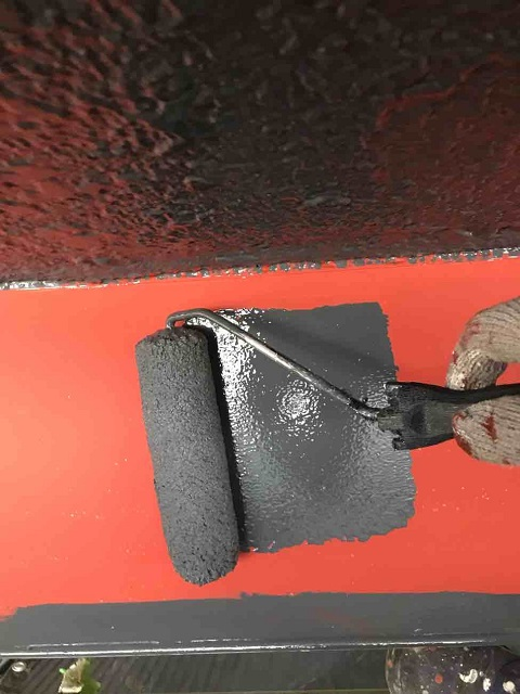 所沢市 北所沢 屋根葺き替え、外壁塗装 付帯部塗装 庇塗装 サビ止め塗布、塗料上塗り
